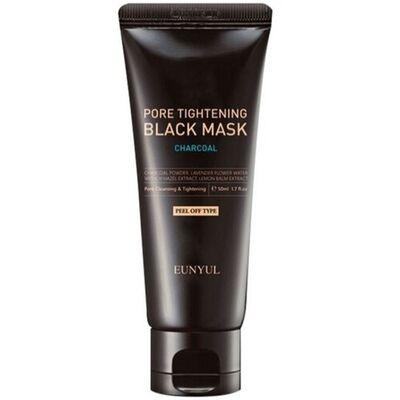 Eunyul Маска-пленка сужающая поры с углем - Pore tightening black mask, 100мл