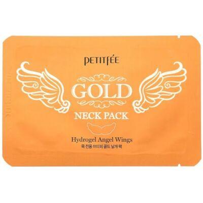Petitfee Патч гидрогелевый для области шеи c золотом - Gold neck pack, 10г
