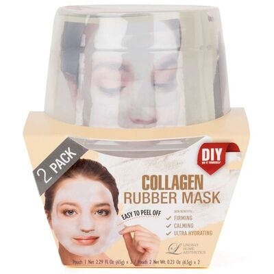 Lindsay Маска альгинатная с коллагеном (пудра+активатор) - Collagen rubber mask, 72г*2шт
