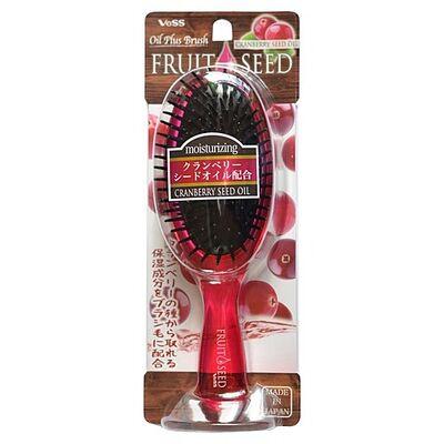 Vess Щетка массажная для волос с маслом семян клюквы(круглая) - Fruit seed brush