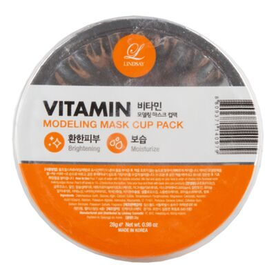Lindsay Маска альгинатная с витаминами - Vitamin modeling mask cup pack, 28г