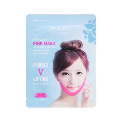 AsiaKiss Лифтинг-маска корректирующая против второго подбородка - Perfect lifting pink mask, 15г