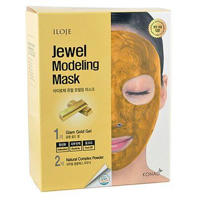 Konad Маска моделирующая для лица с частицами золота -Jewel modeling mask glam gold, 5шт*55г