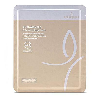 BeauuGreen Маска для лица гидрогелевая с пуллуланой - Anti-wrinkle pullulan hydrogel mask, 30г