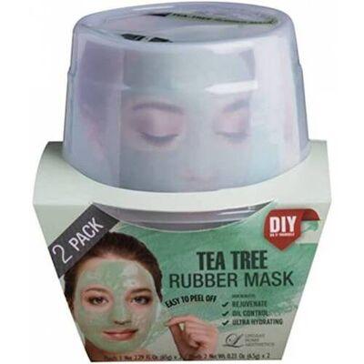 Lindsay Маска альгинатная с маслом чайного дерева (пудра+активатор) - Tea-tree rubber mask, 72г*2шт