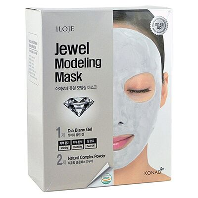 Konad Маска моделирующая для лица с алмазной пудрой - Jewel modeling mask dia blanc, 5шт*55г