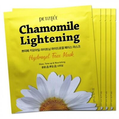 Petitfee Маска с экстрактом ромашки - Chamomile lightening hydrogel face mask, 32г*5шт (упаковка)