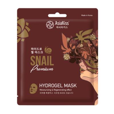AsiaKiss Маска гидрогелевая с муцином улитки - Snail hydrogel mask, 20г