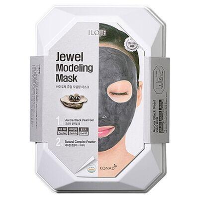 Konad Маска моделирующая для лица с черным жемчугом - Jewel modeling mask aurora black pearl, 55г