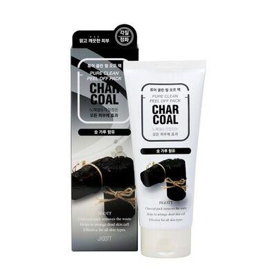 Jigott Маска-пленка очищающая с древесным углем - Charcoal pure clean peel off pack, 180мл