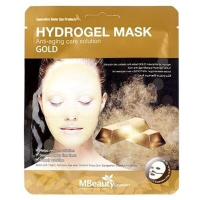 MBeauty Маска с золотом антивозрастная гидрогелевая - Gold hydrogel mask, 25г