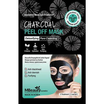 MBeauty Маска-пленка с древесным углем для очищения пор - Charcoal peel off mask, 3шт*7г