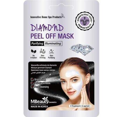 MBeauty Маска-пленка с бриллиантовой пудрой для очищения пор - Diamond peel off mask, 3шт*7г