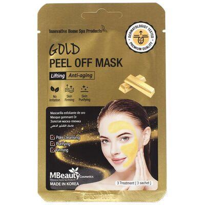 MBeauty Маска-пленка подтягивающая с коллоидным золотом - Gold peel off mask, 3шт*7г