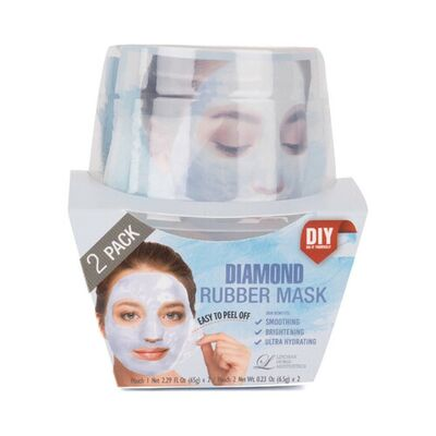 Lindsay Маска альгинатная с алмазной пудрой (пудра+активатор) - Diamond rubber mask, 72г*2шт
