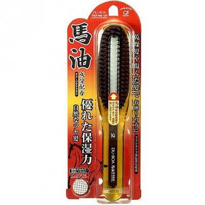 Ikemoto Щетка для поврежденных волос с лошадиным маслом - Du-boa horse oil damage care brush, 1шт