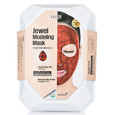 Konad Маска моделирующая для лица с рубиновой пудрой - Jewel modeling mask scarlet ruby, 55г