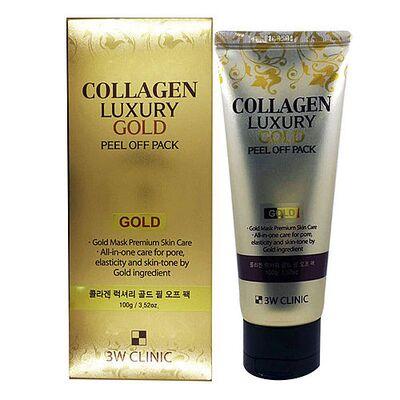 3W Clinic Маска-пленка с коллагеном и золотом — Collagen luxury gold peel off pack, 100г