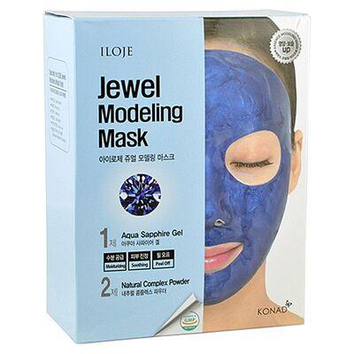 Konad Маска моделирующая для лица с сапфировой пудрой - Jewel modeling mask aqua sapphire, 5шт*55г