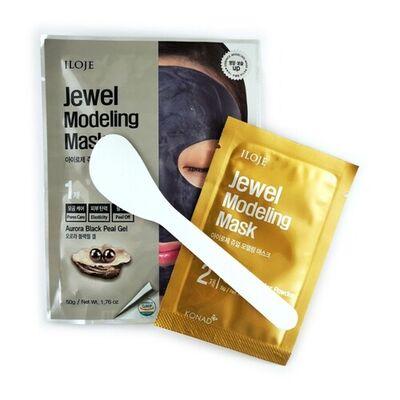 Konad Маска для лица моделирующая с черным жемчугом - Jewel modelling mask aurora black pearl, 50г