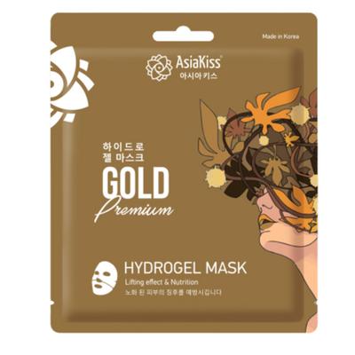 AsiaKiss Маска гидрогелевая с экстрактом золота - Gold hydrogel mask, 20г