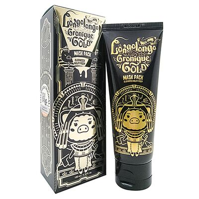 Elizavecca Маска-пленка золотая - Hell-pore longolongo gronique gold mask pack, 100мл