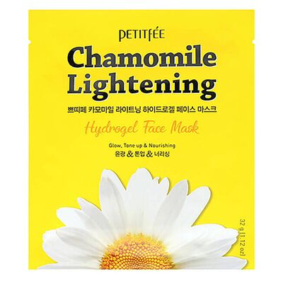 Petitfee Маска гидрогелевая с ромашкой - Chamomile lightening hydrogel face mask, 32г