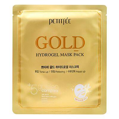 Petitfee Маска для лица гидрогелевая c золотом - Gold hydrogel mask pack, 32г