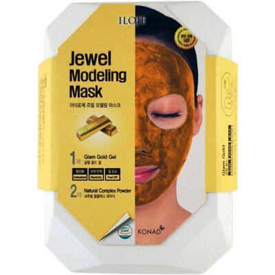 Konad Маска моделирующая для лица с частицами золота - Jewel modeling mask glam gold, 55г