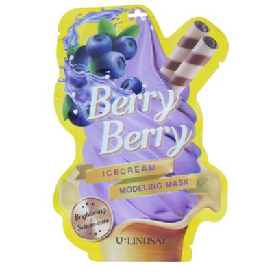 Lindsay Маска моделирующая c ароматом ягод - Berry berry ice cream modeling mask, 50г