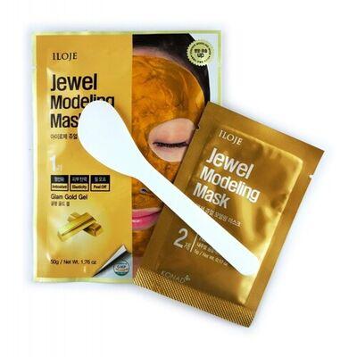 Konad Маска для лица моделирующая с частицами золота - Jewel modelling mask glam gold, 50г