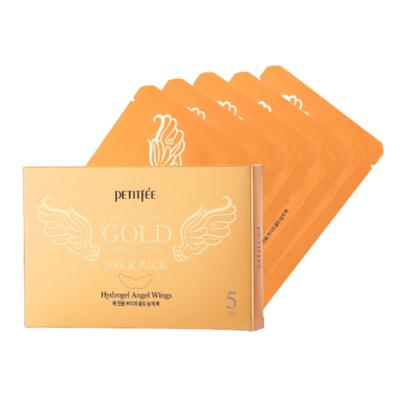 Petitfee Маска для шеи с золотом - Gold neck pack, 10г*5шт (упаковка)