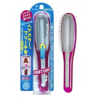 Ikemoto Расческа с силиконовым стержнем, для поврежденных волос, розовая - Damage care brush, 1шт