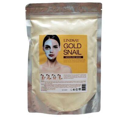 Lindsay Маска альгинатная с муцином золотой улитки - Gold snail modeling mask, 240г