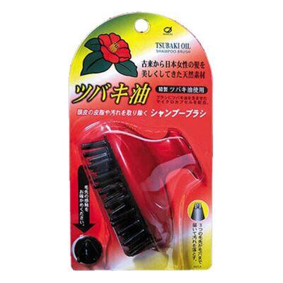 Ikemoto Щётка массажная и очищающая с маслом камелии японской - Tsubaki shampoo brush, 1шт