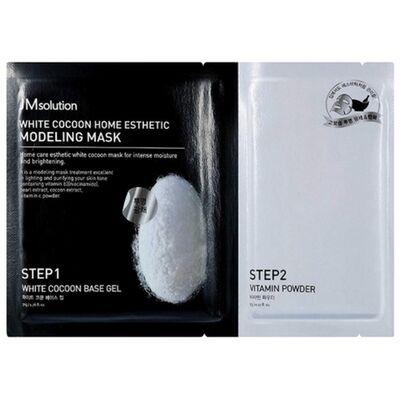 JMsolution Маска с протеинами шелкопряда и жемчугом - White cocoon home esthetic modeling mask, 55г