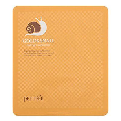 Petitfee Маска гидрогелевая с золотом и муцином улитки — Gold snail hydrogel mask, 30г