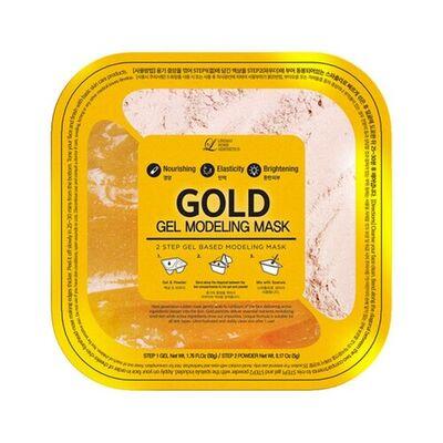 Lindsay Маска альгинатная гелевая с коллоидным золотом (пудра+гель) - Gold gel modeling mask, 55г