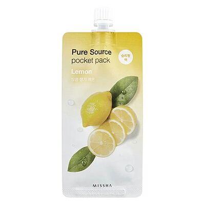 Missha Маска для лица компактная с лимоном - Pure source pocket pack lemon, 10мл