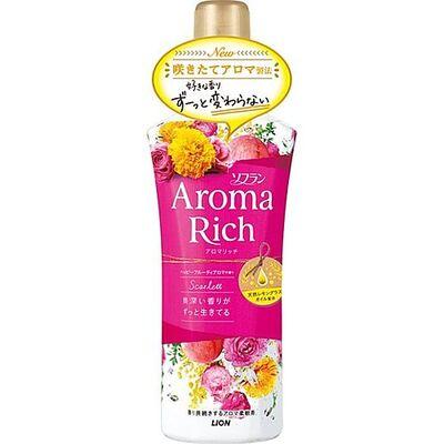 Lion Кондиционер смягчающий с ароматом дамасской розы - Soflan aroma rich scarlett, 520мл
