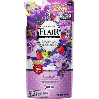 KAO Кондиционер для белья с ароматом цветов и ягод з/б - Flare fragrance dressy berry, 480мл