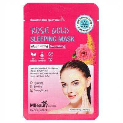 MBeauty Маска ночная увлажняющая с розовой водой - Rose gold sleeping mask, 3шт*7г