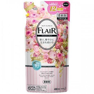 KAO Кондиционер-смягчитель с нежным букетным ароматом з/б - Flare floral suite, 480мл