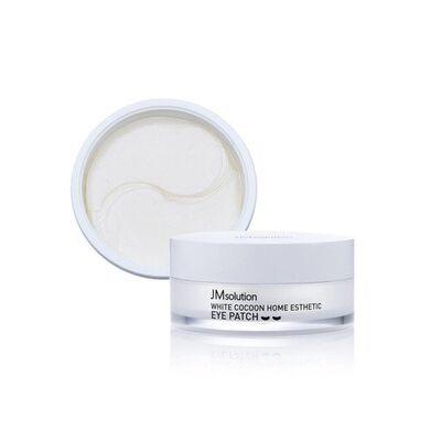 JMsolution Патчи для глаз с протеинами шелкопряда - White cocoon home esthetic eye patch, 60шт