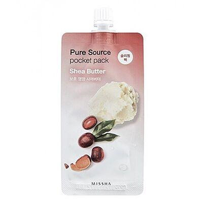 Missha Маска для лица компактная с маслом ши - Pure source pocket pack shea butter, 10мл